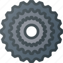 bicycle, bike, cassette, component, drivetrain, gear, switch icon