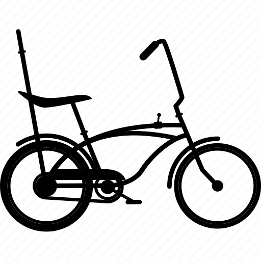 bicycle, bicycles, bike, dragster, retro bike, travel icon