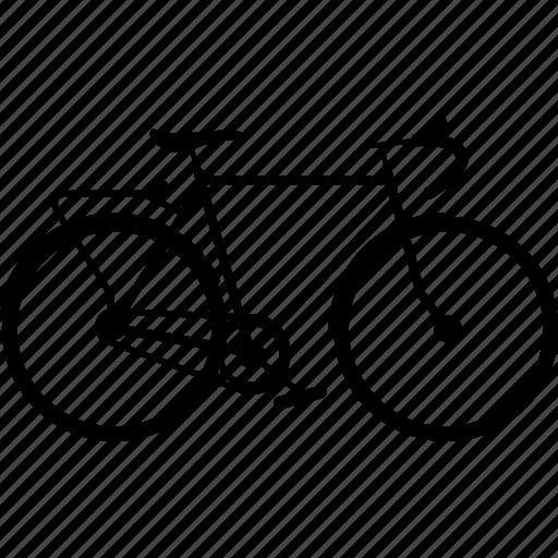 bicycle, bicycles, bike, touring, touring bike, travel icon