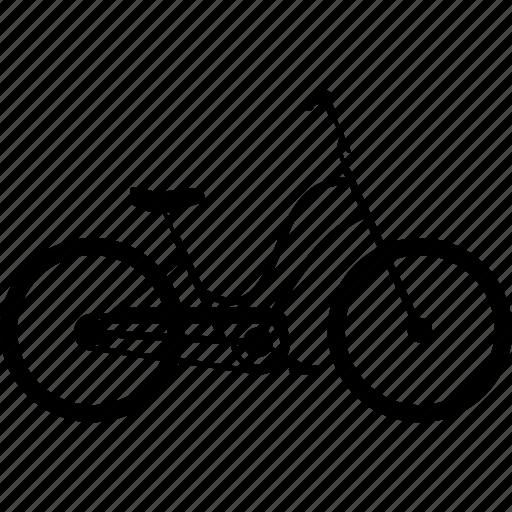 bicycle, bicycles, bike, comfort bike, travel icon