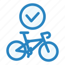 bicycle, bike, checking, repair, sport, store, wheel icon