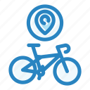 bicycle, bike, city, location, map, pin, travel icon