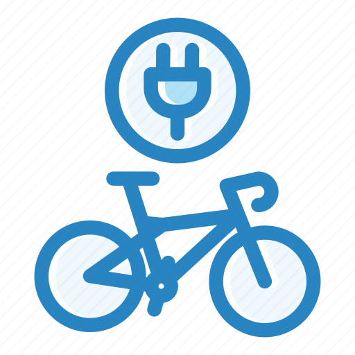 battery, bicycle, charge, electric, energy, power, transportation icon
