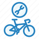 bicycle, bike, biking, mechanic, repair, service, wheel icon