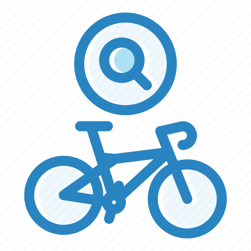 bicycle, bike, internet, map, search, searching, sport icon