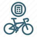 bicycle, calculating, price, rent, repair, ride, sale icon