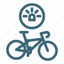 bicycle, bike, light, road, sport, travel, wheel icon
