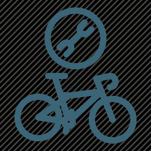 bicycle, bike, biking, mechanic, repair, service, wheel icon