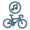 audio, bicycle, bike, equipment, music, musical, sport icon