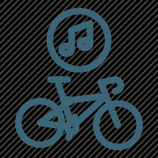 audio, bicycle, bike, equipment, music, musical, sport icon