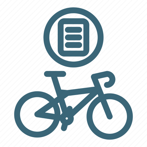 bicycle, bike, document, purchase, sport, transport, transportation icon