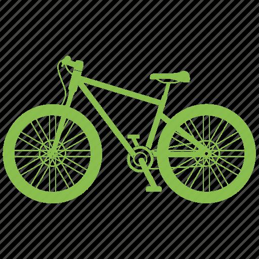 bicycle, transportation, vehicle icon