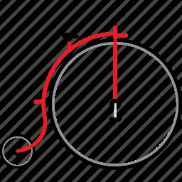 bicycle, bicycles, bike, bikes, penny farthing, travel icon