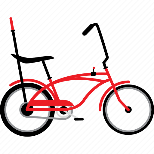 bicycle, bicycles, bike, dragster bike, retro bike icon