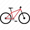 bicycle, bicycles, bike, bikes, cross country bike, travel icon