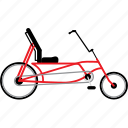 bicycle, bicycles, bike, bikes, recumbent bike, travel icon