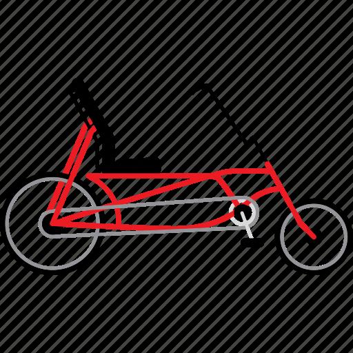 bicycle, bicycles, bike, bikes, recumbent bike, travel icon