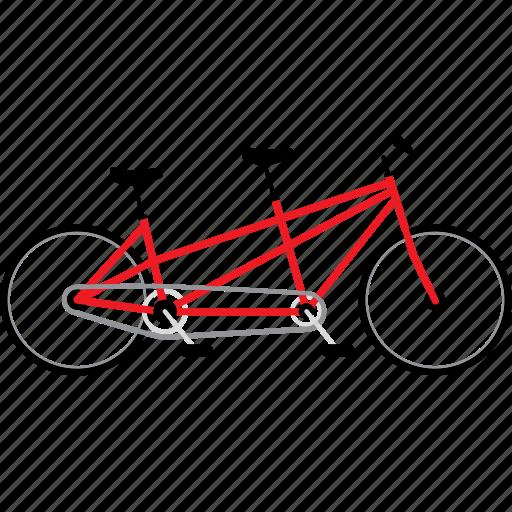 bicycle, bicycles, bike, bikes, couple bike, tandem bike, travel icon