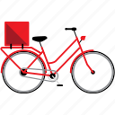 bicycle, bicycles, bike, bikes, delivery bike, travel icon