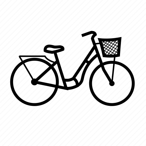 basket, bicycle, bike, ride, transport, travel icon