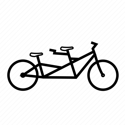 bicycle, bike, ride, tandem, transport, travel icon