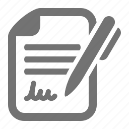 agreement, contract, document, pen, sign, signature icon