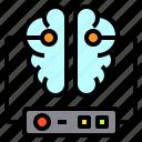 brain, data, document, server, storage icon