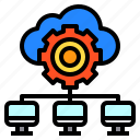 cloud, computer, connection, data, network icon
