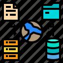 data, file, folder, network, storage icon
