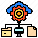 connection, data, file, network, storage icon
