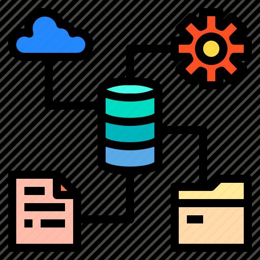 connection, data, network, server, storage icon