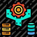 data, document, process, server, storage icon