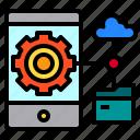 data, mobile, network, smartphone, storage icon