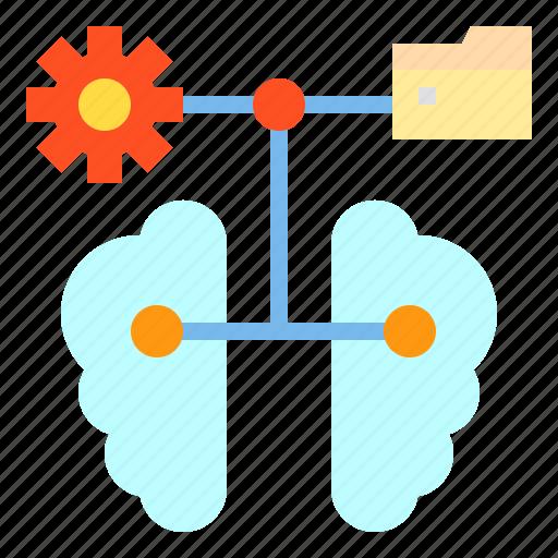 Brain, data, file, folder, storage icon - Download on Iconfinder