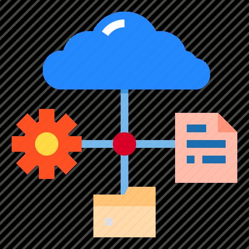 Cloud, data, file, folder, storage icon - Download on Iconfinder