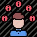 analyst, analytics, big, data, information, man icon