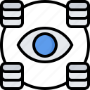 analyst, analytics, big, data, database, information, monitoring icon