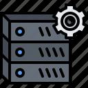 analyst, analytics, data, optimization, server icon