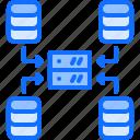 analyst, analytics, big, data, database, network, server icon