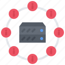 analyst, analytics, big, data, information, server icon