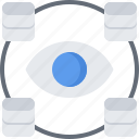 analyst, analytics, data, database, information, monitoring icon