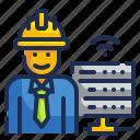 data, engineer, job, occupation icon