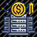 big, data, dollar, investment, money icon