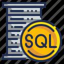 database, file, format, sql, web icon