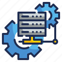 big, computer, data, system, technology icon
