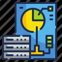 electronics, interface, monitor, technology, visualization icon