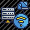 big, data, internet, wifi, wireless icon