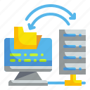 computer, data, internet, monitor, screen icon