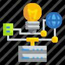 creativity, data, idea, think icon