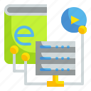 data, education, idea, knowledge, learning icon